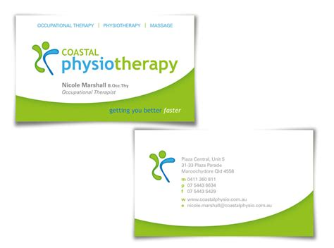 physiotherapy business card design ideas sles
