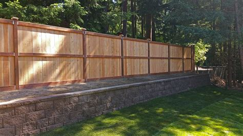retaining wall design and installation in olympia and tacoma ajb landscaping fence