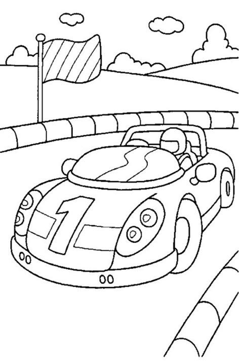 race car coloring pages coloring town