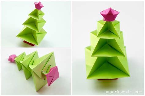 Origami Paper Tree - origami tree tutorial paper kawaii