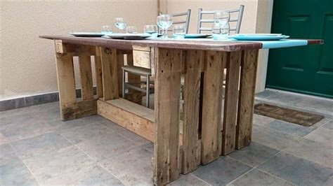 Dining Table Made From Pallets Pallet Dining Table With Mdf Plate Top 101 Pallet Ideas