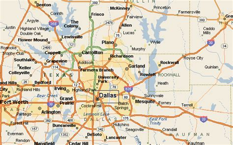 map of dallas texas and surrounding cities lawn squad rockwall tx areas serviced