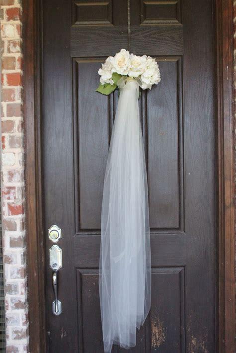 Bridal Shower Veil Wreath For The Front Door As Guest Walk Bridal Shower Door Decorations