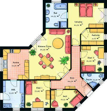 1 schlafzimmer grundrisse fertighaus bungalows winkelbungalows hausansicht