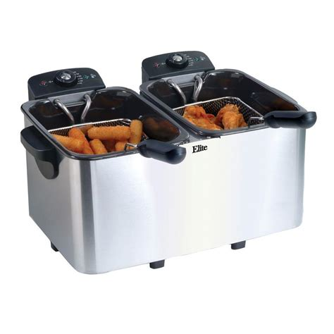 elite platinum 8 qt fryer in stainless steel edf