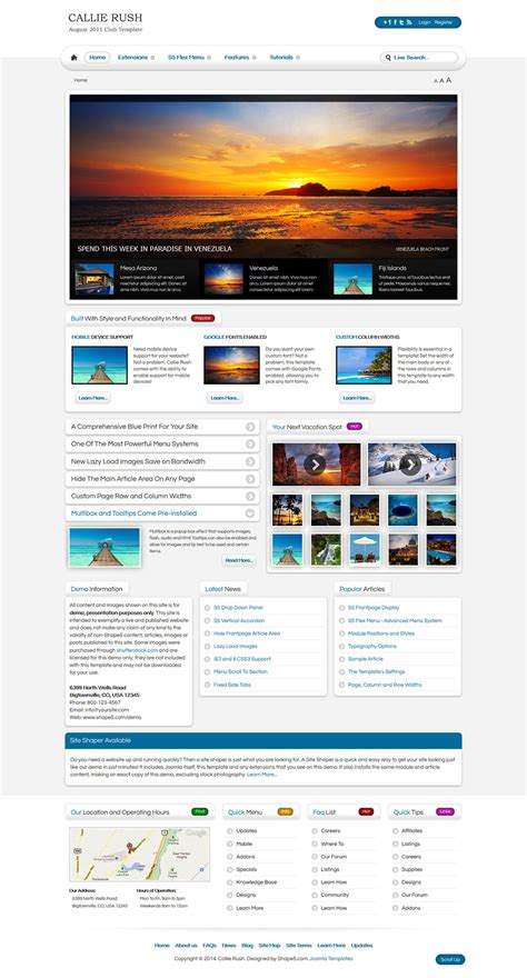 Shape5 Templates by Shape5 Callie V2 0 0 Travel Template For Joomla