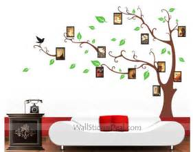 pics photos family tree wall decal photo frame stickers hanging sticker