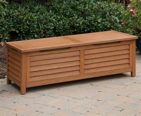 Deck Storage Bench Outdoor Storage Bench With Cushion Furnitureplans