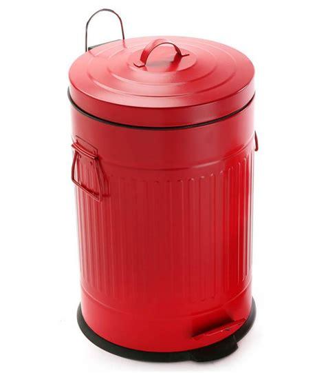 poubelle originale cuisine poubelle de cuisine r 201 tro en m 201 tal 20l