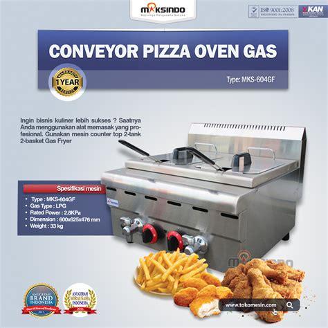 Keranjang Gas jual counter top 2 tank 2 basket gas fryer di blitar