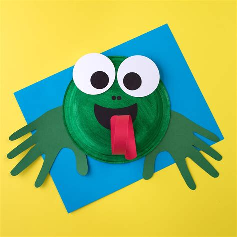 plate crafts paper plate frog craft