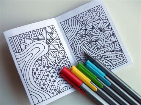 printable zines mini zine printable zentangle inspired coloring book