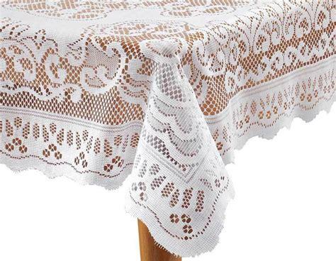 Floral Duvet Cover Set White Fleur De Lis Lace Tablecloth Ebay