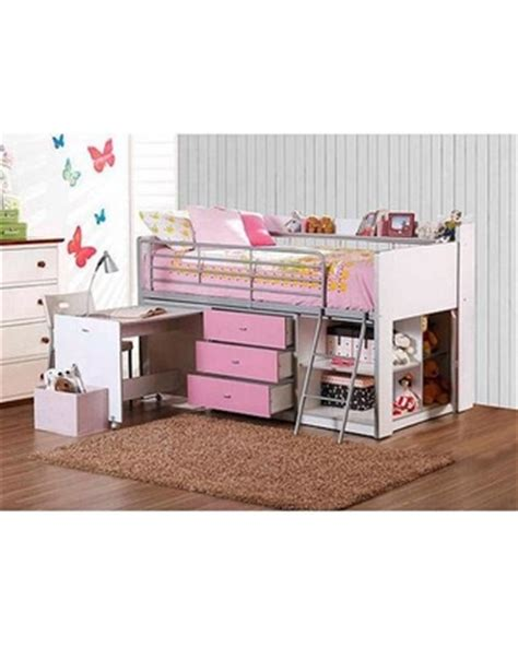 pink futon bunk bed with desk summer is here get this deal on savannah storage loft bed