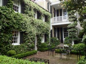 classic charleston with garden confederate in