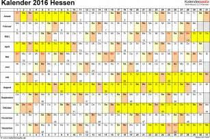 Kalender 2018 Hessen Word Kalender 2016 Hessen Ferien Feiertage Word Vorlagen