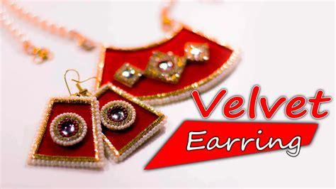 Velvet Pearl Earring velvet pearl earring necklace paper jewelry