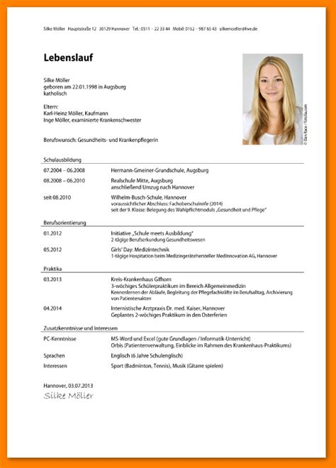 Bewerbung Lebenslauf Vorlage 10 Bewerbung Lebenslauf Muster Reimbursement Format