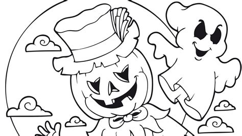 imagenes de halloween viros para dibujar dibujo de halloween con personajes para colorear