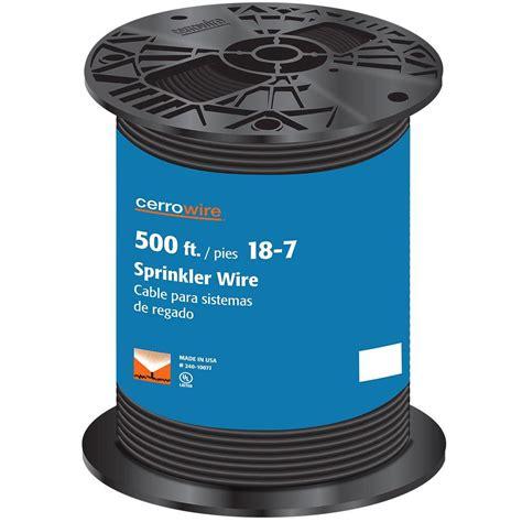 coleman cable 100 ft 18 7 black solid cu sprinkler wire