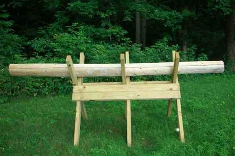 build firewood cutting rack sawbuck assembly firewood cutting rack