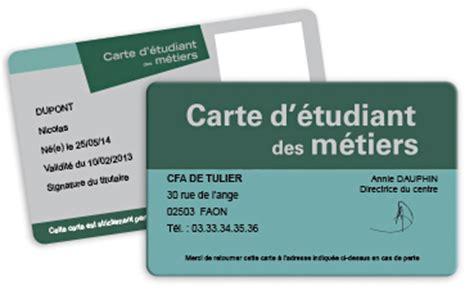 carte chambre des metiers badges scolaires cartes scolaires carte d 233 tudiant des