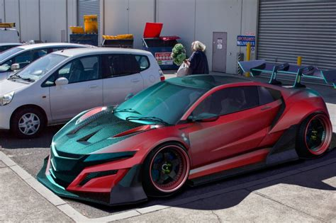 honda supercar artist creates 2015 honda nsx super gt race car pits it