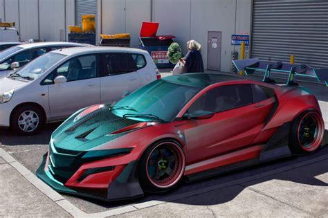 honda supercar artist creates 2015 honda nsx super gt race car pits it