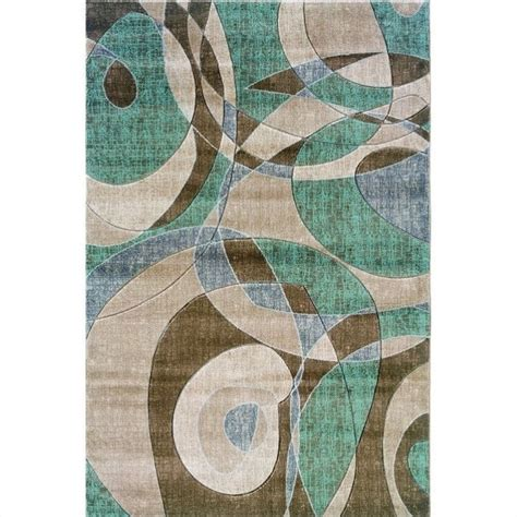 Brown And Turquoise Area Rugs Rugs Rectangular Area Rug In Brown And Turquoise Rug Mn16xx