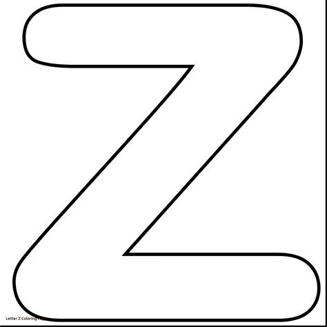 Z Coloring Pages by Fresh Letter Z Coloring Pages Gallery Printable Coloring