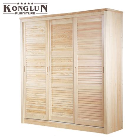 Pine Sliding Closet Doors Buy Port Huron Solid Wood Furniture Pine Wardrobe Sliding Louvered Door Wardrobe Closet