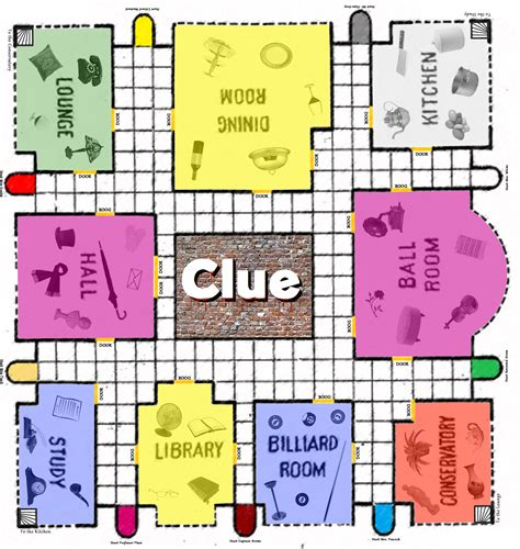 clue cards place template clue board printable clue board