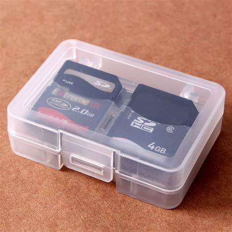 Holder Plastic Storage Box For Memory Card 4 Comp Limited transparent cf sd card compact flash memory card holder