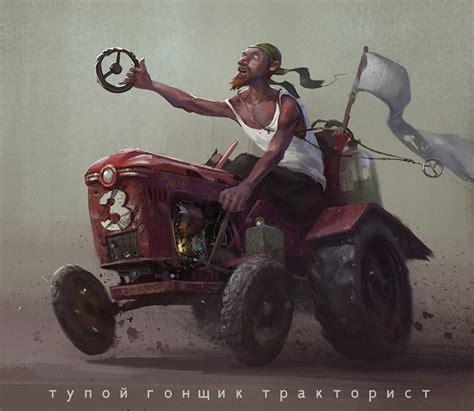 wallpaper humor men tractors