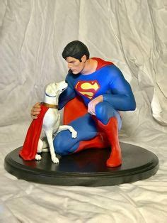 christopher reeve krypto statue lois and clark the new adventures of superman bizarro