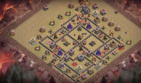 th9 base with war bomb tower 2016 7 th8 to th11bomb tower base layouts