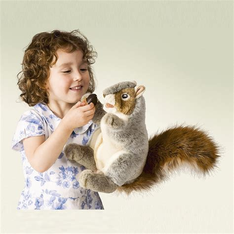 gray squirrel puppet by folkmanis puppets inc