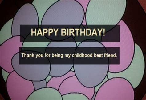 imagenes de happy birthday my friend birthday wishes for childhood friend wishesgreeting