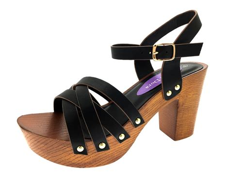 womens platform sandals womens stacked platform sandals chunky block high heels