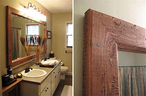 wood frame mirror for bathroom bath mirror frame ideas rustic crafts chic decor