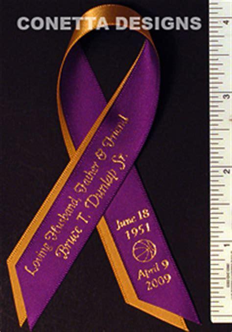 Awareness Ribbon Personalized Memorial Remembrance Ribbon