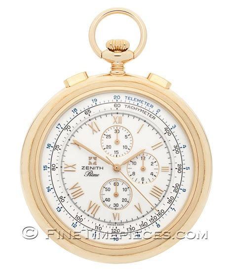 zenith pocket chronograph yellow gold ref 30