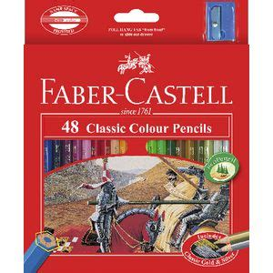 Pencil Colour Pensil Warna Classic Faber Castell 48 Color faber castell classic coloured pencils 48 pack officeworks