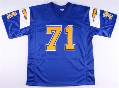 throwback chargers jersey sports memorabilia auction pristine auction