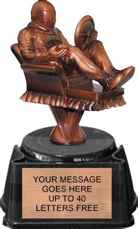 armchair racing armchair fantasy racing resin trophy