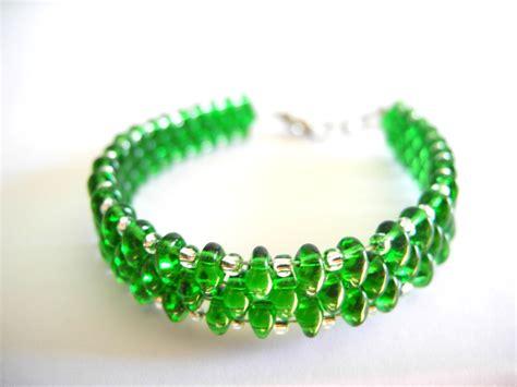 green bead bracelet emerald bracelet emerald beaded bracelet seed bead