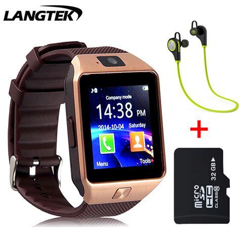 Smart Dz10 Smartwatch X3 Sim Card Memory Card Gold Brown langtek smart dz10 for apple android phone support sim card reloj inteligente smartwatch