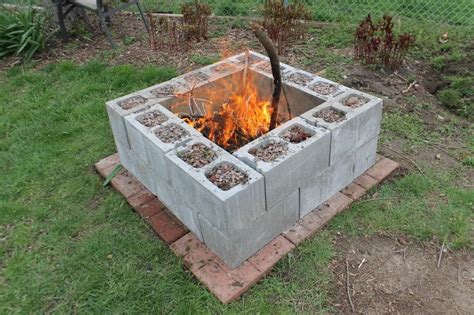 diy pit budget inexpensive pit with block and