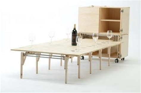fold out tables mobile dining is created by nobuhiro teshima
