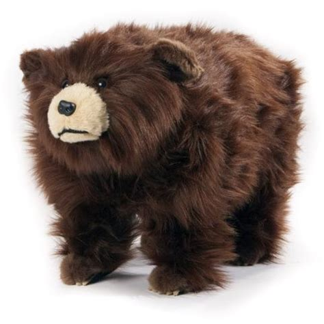 bear ottoman quot shadow quot shaggy black bear footstool the bear s lair